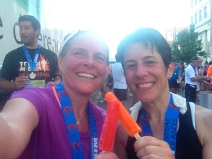 I decided that cold popsicles after a hot run is really a genius idea-and Crim is one of the few races that does it!