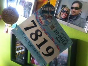 I thought this would actually be a bib worth keeping. A nice reminder of why I really run.